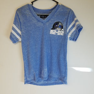 Star Wars - 2 Shirts - 1 R2D2 & 1 Boba Fett Size S